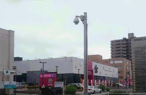 安視ん君-秋田駅前某駐車場納入事例
