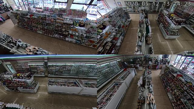 店内に設置した360°パノラマの実際の映像