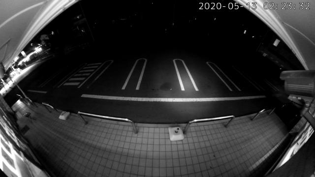 入り口に設置したカメラの夜間映像