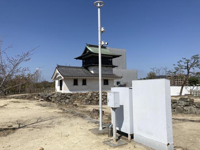 福山城に防犯カメラのフルサポを設置